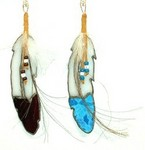 Stained Glass Feather 9""